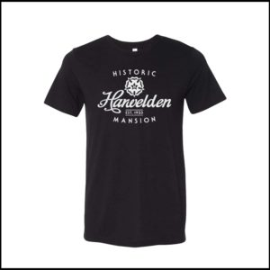 Harwelden Mansion T-Shirt, Classic Logo (Black)